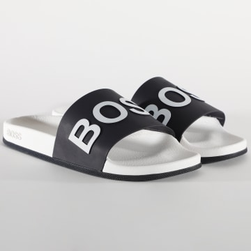 BOSS - Claquettes Bay 50432591 Blanc Noir