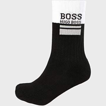 BOSS - Paire De Chaussette QS Rib Block Logo 50441218 Blanc