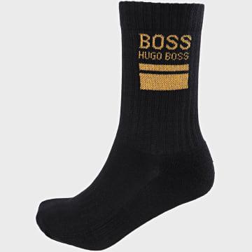 BOSS - Paire De Chaussette QS Rib Block Logo 50441218 Bleu Marine Doré