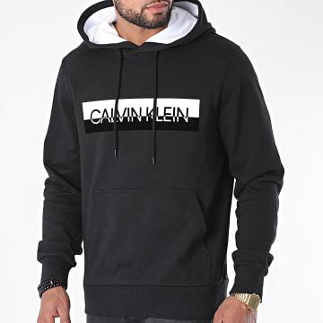 Calvin Klein - Sweat Capuche Split Logo 5586 Noir