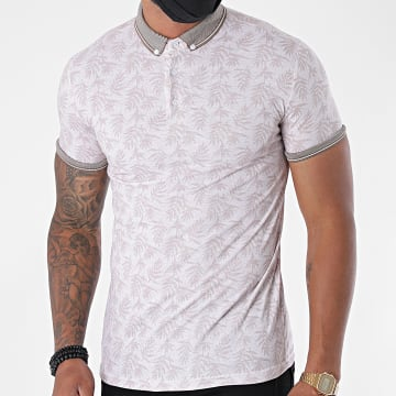 Classic Series - Polo Manches Courtes 2267 Beige Floral