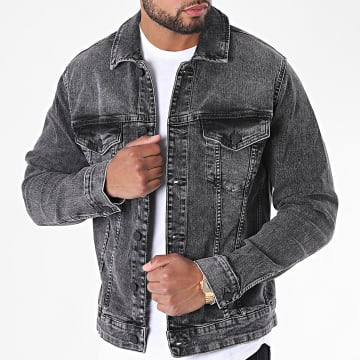 Only And Sons - Veste Jean Come Life Trucker Gris