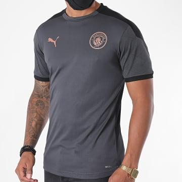 Puma - Tee Shirt De Sport Manchester FC 757878 Gris Anthracite Noir
