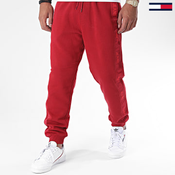 Tommy Jeans - Pantalon Jogging A Bandes Sweat 8676 Rouge