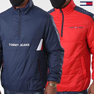 Tommy Jeans - Veste Col Zippé Réversible Retro Popover 8431 Bleu Marine
