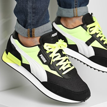 Puma - Baskets Future Rider Neon Play 373383 Black-Fizzy Yellow