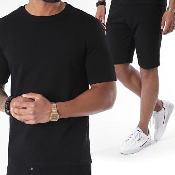 Uniplay - Ensemble Tee Shirt Short Jogging EHL-8 Noir
