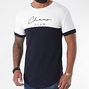 Uniplay - Tee Shirt Oversize UY510 Bleu Marine Blanc