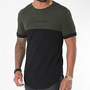 Uniplay - Tee Shirt Oversize UY510 Noir Vert Kaki