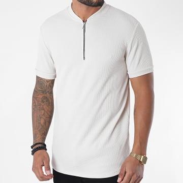 Uniplay - Tee Shirt Oversize Col Zippé UY509 Beige