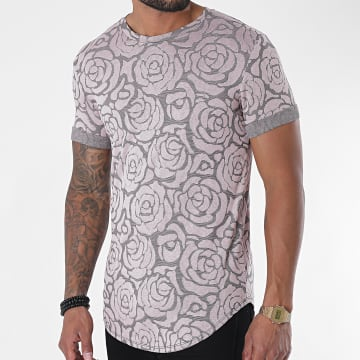 Uniplay - Tee Shirt Oversize Floral UY499 Rose