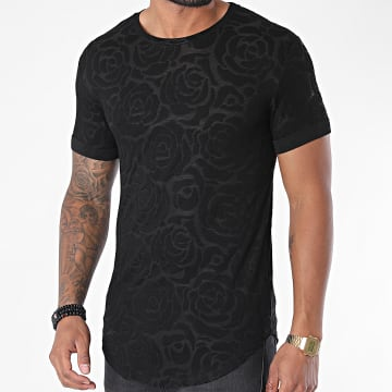 Uniplay - Tee Shirt Oversize Floral UY499 Noir