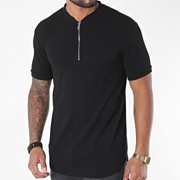 Uniplay - Tee Shirt Oversize Col Zippé UY509 Noir