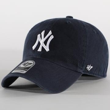 '47 Brand - Casquette New York Yankees Clean Up B-RGW17GWS Bleu Marine