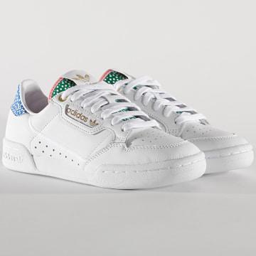 Adidas Originals - Baskets Femme Continental 80 FW2534 Footwear White Gold Metallic Glow Pink