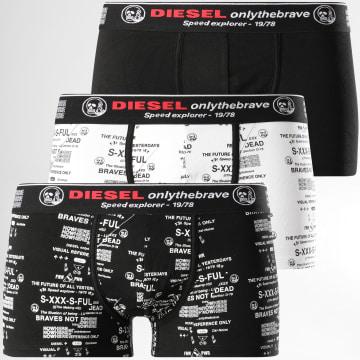 Diesel - Lot De 3 Boxers Damien 00ST3V-0BAZP Noir Blanc