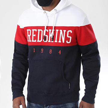 Redskins - Sweat Capuche Eklec Skyline Bleu Marine Rouge Blanc