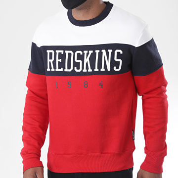 Redskins - Sweat Crewneck Fouga Skyline Blanc Rouge Bleu Marine