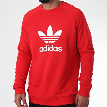 Adidas Originals - Sweat Crewneck Trefoil GD9926 Rouge