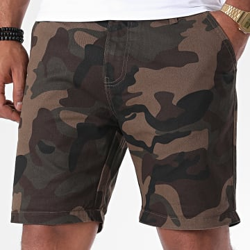 Brave Soul - Short Jean Camouflage Smith Marron
