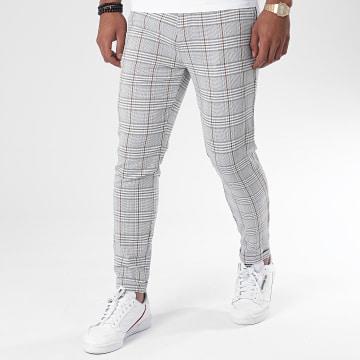 Classic Series - Pantalon Chino A Carreaux A20Y2358 Gris Clair