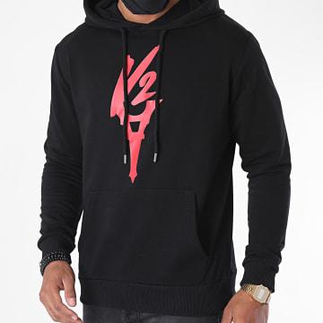 Da Uzi - Sweat Capuche Logo Noir Rouge