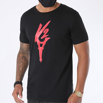 Da Uzi - Tee Shirt Logo Noir Rouge