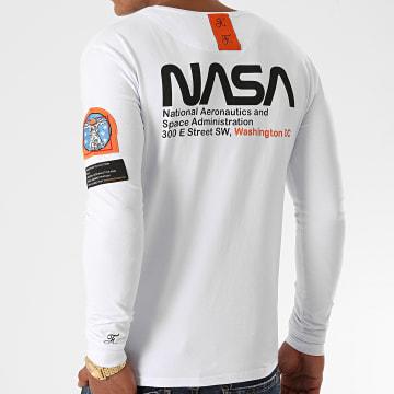 Final Club - Tee Shirt Manches Longues Space Exploration Avec Patch Et Broderie 462 Blanc