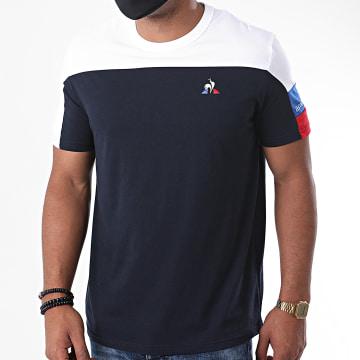 Le Coq Sportif - Tee Shirt Tricolore N1 2020516 Bleu Marine Ecru