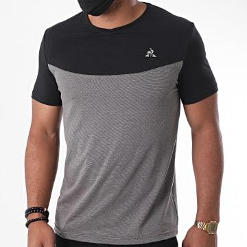 Le Coq Sportif - Tee Shirt Tech N2 2020549 Gris Noir Argenté