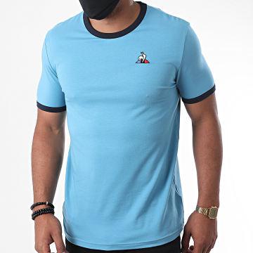 Le Coq Sportif - Tee Shirt Essential Bicolore N1 2020807 Bleu Clair