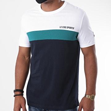 Le Coq Sportif - Tee Shirt Saison 2 N1 2020509 Bleu Marine Ecru