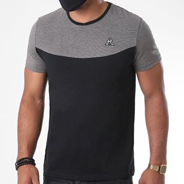 Le Coq Sportif - Tee Shirt Tech N1 2020536 Noir Gris Argenté