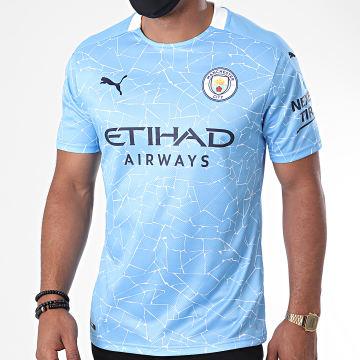 Puma - Tee Shirt De Sport Manchester City Home Replica 757058 Bleu Ciel