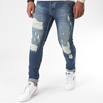 Zayne Paris  - Jean Slim ZA70 Bleu Denim