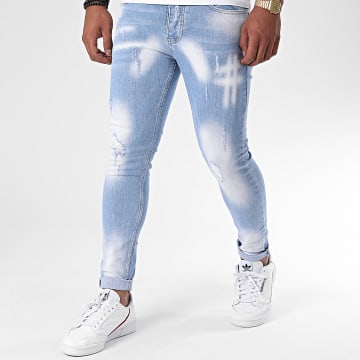 Zayne Paris  - Jean Slim ZA66 Bleu Denim