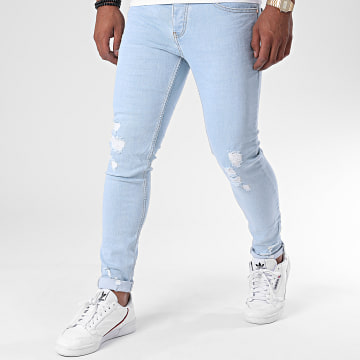 Zayne Paris  - Jean Slim ZA64 Bleu Denim