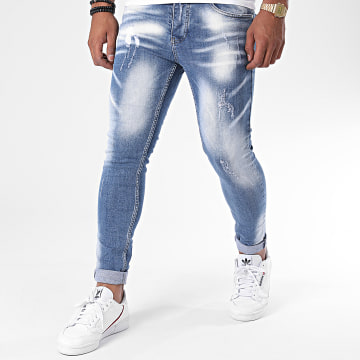 Zayne Paris  - Jean Slim ZA68 Bleu Denim