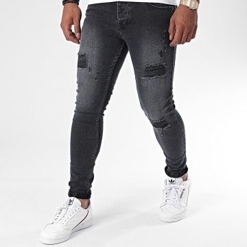 Zayne Paris  - Jean Slim ZA63 Gris Anthracite