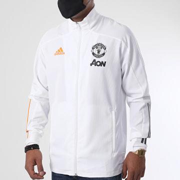 Adidas Performance - Veste De Sport A Bandes Manchester United FC FR3663 Blanc