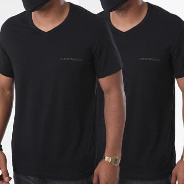 Emporio Armani - Lot De 2 Tee Shirts Col V 111849-0A717 Noir