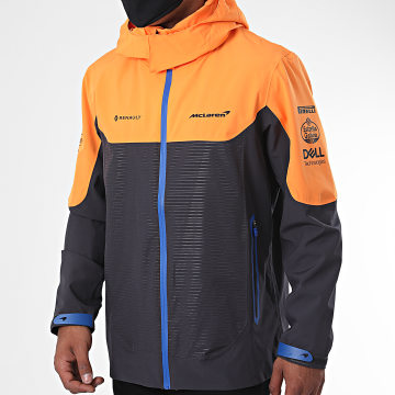 McLaren - Veste Zippée Capuche Team Waterproof 334801033 Orange Gris