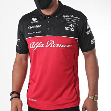 Alfa Romeo Racing - Polo Manches Courtes Race Technical ARRRTCPO20 Rouge Noir