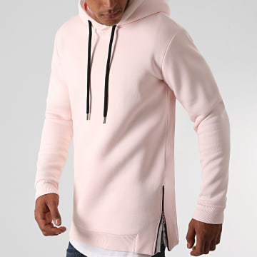 LBO - Sweat Capuche Oversize Zip 1290 Rose Pale