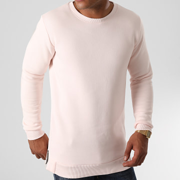 LBO - Sweat Crewneck Oversize Zip 1304 Rose Pale