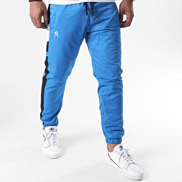 NI by Ninho - Pantalon Jogging A Bandes Uzi PT029 Bleu