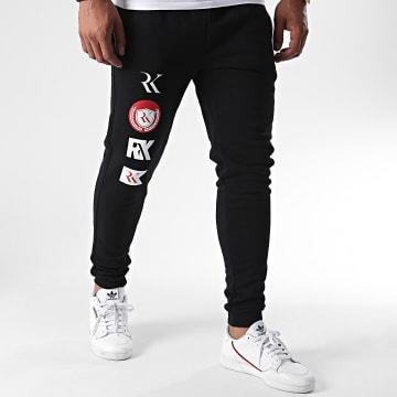 RK - Pantalon Jogging Logo Patch Noir
