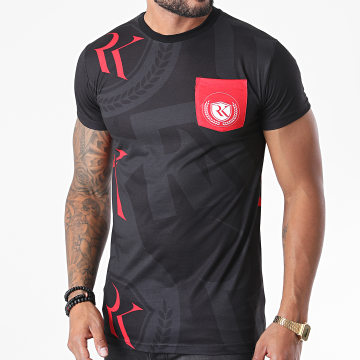 Classic Series - Tee Shirt All Over Poche Sublimation Noir Rouge