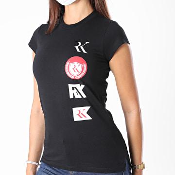 RK - Tee Shirt Slim Femme Logo Patch Noir