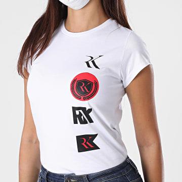 RK - Tee Shirt Slim Femme Logo Patch Blanc